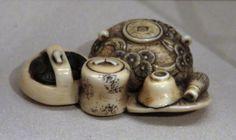 Tea_set_netsuke | Netsuke from the Asian Art Museum…