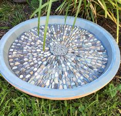 This lovely mosaic pebble bird bath will look great in your garden, wonderful for the birds and gorgeous to look at.  Terracotta base,