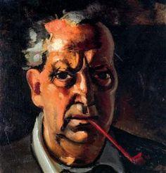 Self-portrait with a pipe - Andre Derain