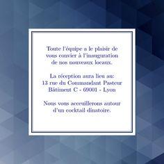 8 idees de inauguration invitation
