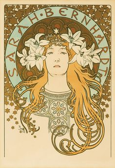 The actress my father compared me to my whole childhood whenever he thought I was being dramatic.  By Mucha