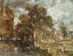 "John Constable, ""On the Stour"" (c. 1834), oil on canvas, The Phillips Collection, Washington. #Landscape #Art"