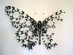 Beer Can Butterflies Paul Villinski crafts elaborate installations depicting flocks of butterflies in motion. All with recycled and repurposed materials; his butterflies use aluminum cans. Paul Villinski Beer Can Butterflies DIY Upcycling Cans Art Papillon, Paper Art, Paper Crafts, Diy Paper, Kirigami, Art Plastique, Tattoo Inspiration, Tatting, Body Art