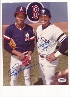 Rod Carew & Reggie Jackson Autograph 8x10 photo psa/dna . $139.99. This is a autograph 8 x 10 photo. Signed inBluesharpie. Signed by Hall of Famer Rod Carew & Reggie Jackson. Photo is authenticity byPSA/DNA. Comes with aPSA/DNA sticker on thephoto and aPSA/DNA basic certstating thephotois authentic. Please see scan.