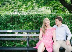 Photography: Brklyn View Photography - www.brklynview.com  Read More: http://www.stylemepretty.com/2014/05/12/central-park-conservatory-gardens-engagement-session/