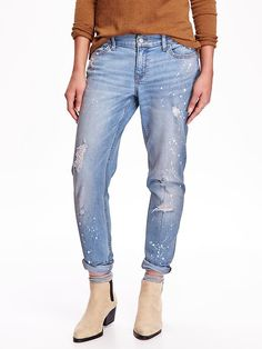 We'd like to introduce you to the boyfriend distressed skinny ankle jeans. These are the whole package: good-looking, stylish and sure to make you feel comfortable. A hand-picked favorite of @Refinery29 editors, these are the jeans of your dreams.