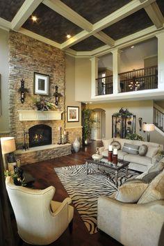 The Broadmore Living Room, fireplace view. Cincinnati Region