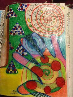 SPLAT PAINT - ART Journaling: Art Journaling: My Hand