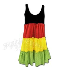 Rasta and Reggae Tank Top Dress #rasta #reggae