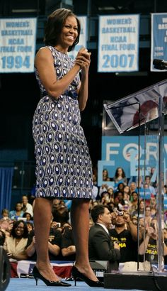 Michelle Obama in Jason Wu (Love the print.)