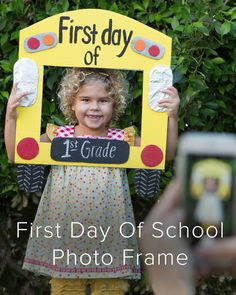 First Day Of School Photo Frame via Nifty