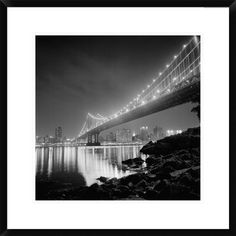 Manhattan Bridge By Night By Philippe Levy-Stab, 24 X 24-Inch Wall Art