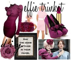 DIY Halloween Costume Idea Effie Trinket from the Hunger Games