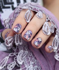 A England Guinevere with flowers | Mari's Nail Polish Blog