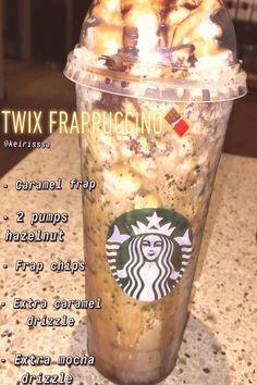 Healthy Starbucks Drinks, Starbucks Secret Menu Drinks, Yummy Drinks, How To Order Starbucks, Starbucks Frappuccino, Starbucks Hacks, Starbucks Coffee, Coffee Recipes, Fondue Recipes