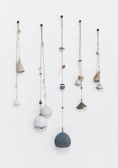 mohawk general store ceramic bells, mt washington pottery