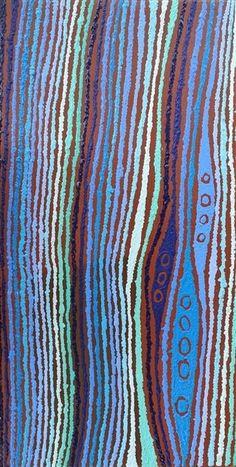 Ngapa Jukurrpa (Water Dreaming) - Wapurtali by Christine Nakamarra Curtis