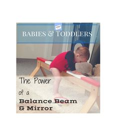 I never thought of using a balance beam before my baby could walk! Great idea!