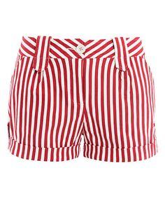 Another great find on #zulily! Red & White Stripe Shorts #zulilyfinds