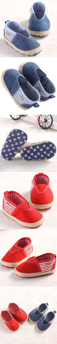 Delicate Hot! Soft Solid Infant Anti-slip New Born Baby Shoes Boys first Walkers Casual For Baby Girl shoe Blue Red M22 $2.78
