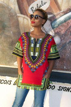 Dashiki Shirt African Print Shirt by Bongolicious1 on Etsy