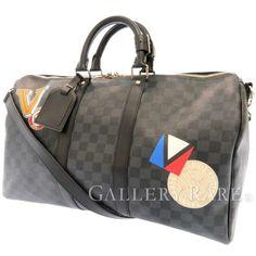 ルイヴィトン ボストンバッグ ダミエ・グラフィット キーポル・バンドリエール 45 N41057 LOUIS VUITTON トラベルバッグ 旅行用バッグ Louis Vuitton Keepall, Boston Bag, Travel Bag, Best Deals, Graphite, Bags, Accessories, Graffiti, Handbags