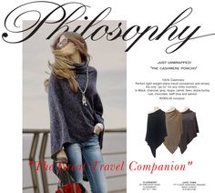 Poncho newsletter for Philosophy Cashmere Poncho, African Design, Jenni, Clothing Stores, Philosophy, Taupe, In This Moment, Button, Stylish