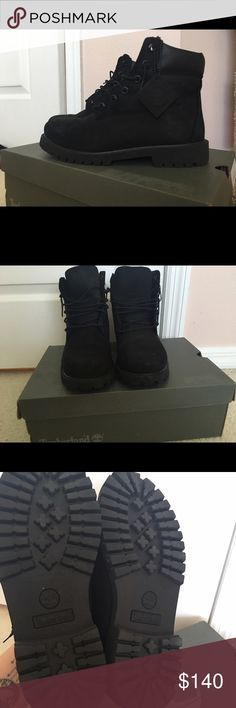 black timberlands women's 9 great condition Adorable black timberlands, great for hiking or for style! Size 8 women's, barely worn Timberland Shoes Ankle Boots & Booties