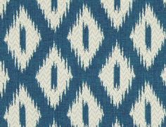 Turquoise Ikat Upholstery Fabric by the Yard - Blue White Modern Ikat for Furniture Upholstery - Ikat Pillow Material - Turquoise Home Decor
