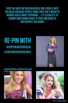 #StopTheHateOnChloe #StopTheHateOnTheGirls