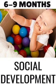 Learn about what to expect from babies months in the area of social emotional development. Find out simple social emotional activities for babies that are easy and you can do during baby care routines or playtime. Young Toddler Activities, Infant Activities, Learning Activities, Social Emotional Activities, Social Emotional Development, Baby Development By Week, Baby Milestones, Baby Play, Infant Play