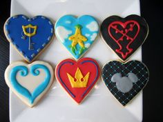 Kingdom Hearts Inspired Cookies with Royal by TeaAndCuriosity