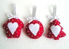 Christmas felt ornaments Christmas tree ornaments by feltgofen