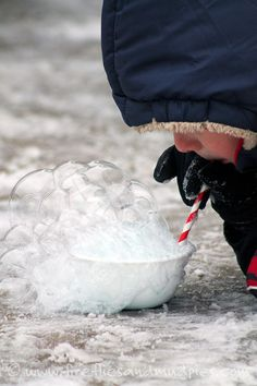 Polar vortex? Bundle up and blow frozen bubbles for a thrilling winter science experiment!