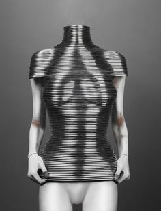 "Shaun Leane for Alexander McQueen  ""Coiled"" Corset  The Overlook, autumn/winter 1999–2000  Aluminum"
