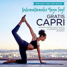 Happy #Yoga Tag! Um das zu feiern schenken wir unseren VIP-Mitgliedern eine GRATIS CAPRI zu jeder Bestellung ab 4995! Aber beeilt euch das Angebot gilt nur heute! #internationalyogaday