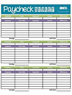 printable weekly budget worksheet