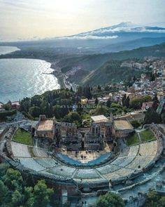 Teatro antico Taormina Sicilia #VisitingItaly
