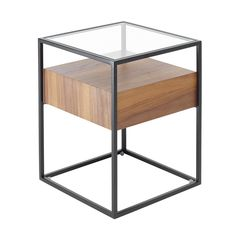 The Clear Glass Top Floats Above The Drawer Unit Allowing