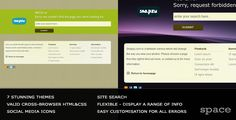 Stunning 404/500/etc Error Pages – search/7 themes