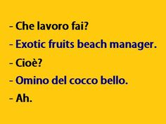 EFB Manager that is Exotic fruits beach Manager Fanny Photos, Funny Cute, Hilarious, Italian Quotes, Feelings Words, Some Funny Jokes, Lol, Mood Quotes, Funny Images