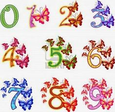 13270328-beautiful-multi-coloured-numbers-with-butterflies.jpg (400×392)