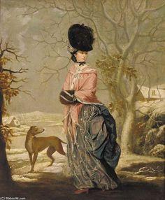 Winter, Portrait Of A Lady by John Raphael Smith (1752-1812, United Kingdom)