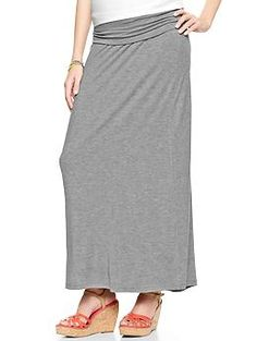 Heathered foldover maxi skirt from GAP - my favorite maternity skirt!