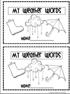 Weather Vocabulary Booklet freebie and other great weather unit ideas! First Grade Science, Kindergarten Science, Elementary Science, Science Classroom, Teaching Science, Science Activities, Science Ideas, Science Education, Science Experiments