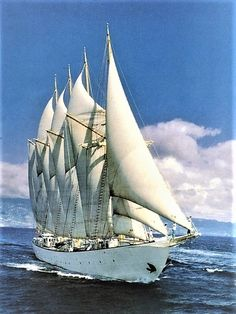 """""""Creoula"""" is a Four Masted Schooner. - """"Creoula"""" is a Four Masted Schooner. Tall Ships Race, Old Sailing Ships, Yacht Boat, Set Sail, Ship Art, Submarines, Model Ships, Lighthouse, Portugal"""