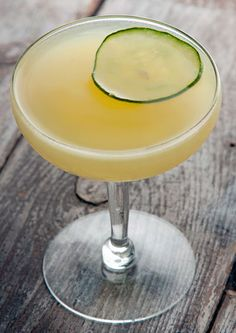 The New Airline: Hendrick's gin, ginger, cucumber, apple, elderflower, lime juice
