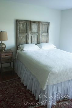 StoneGable - 3 Shutters, now a clever and beautiful headboard