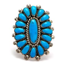 Turquoise Cluster Ring at Maverick Western Wear