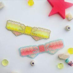 PIN BIG knot woven in beads miyuki by luluandthelittlepea on Etsy